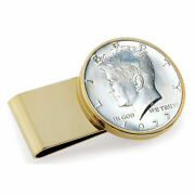 New Stainless Steel Goldtone Year To Remember Half Dollar Coin Money Clip 2002