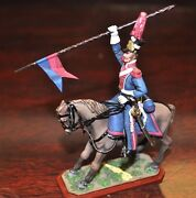 St Petersburg 54mm 1812 Polish Calvary Lancer All Metal Toy Soldier From Russia