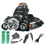 Headlight Led Torch Lamp Waterproof Rechargeable Fishing Hunting Camping Lantern