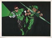 Vintage 1978 Green Lantern And Green Arrow Pin Up Poster Dc