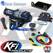Kfi 3000lbs Winch Kit And Winch Mount For 2000-2006 Honda Trx350fe Rancher 4x4 Es