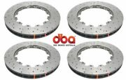 Dba Front And Rear Drilled And Slotted Brake Rotors For 2012-2017 Nissan Gt-r R35
