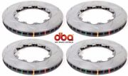 Dba Front And Rear Slotted Brake Rotors For 2009 - 2011 Nissan Gt-r Gtr R35