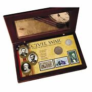 New American Coin Treasures Civil War Coin And Stamp Collection Boxed Set 11165