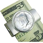 New 1964 First-year-of-issue Silver Jfk Half Dollar Coin Money Clip 12319