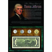 New American Coin Treasures Many Faces Of Thomas Jefferson Coin And Currency 12414