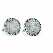 New 1883 First-year-of-issue Liberty Nickel Rope Bezel Coin Cuff Links 12704