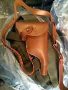 Wwi German Mauser Bolo Holster And Bandolier Brown Leather - Lot Of 5