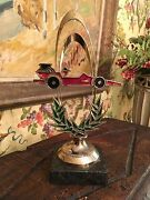 Italian French Early Vintage Slot Car Peddle Car Racer Prize Trophy