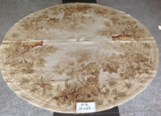 Multiple Sizes Pastel Muted Aubusson Design French Country Round Needlepoint Rug