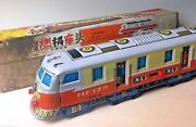 Rare Internal Combustion Train Old Tin Toy Made In China Friction Japan Original