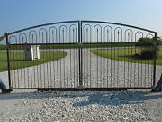 Wide Opening Driveway Gate - Made To Order To Fit Handmade Works W/ 5and039 Fence