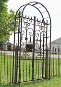 Really Big Metal Country French Garden Arbor Gate - Wrought Iron Trellis Gateway