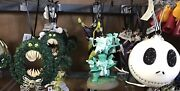 Disney Haunted Mansion Nightmare Before Christmas Tree Ornaments Set Of 3