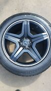 Set Of 4 New Amg Replica Mbz Suv 20 Black Wheels 5-130 5-112 And Dunlop Mo Tires