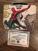 Amazing Fantasy 15 Lunchbox Infinity War Spider-man Signed By Stan Lee + Coa