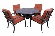 Venice Outdoor Collection 4 Dining Chairs And Le Terrace 42″ Round Table --5pc Set
