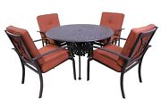 Venice Outdoor Collection 4 Dining Chairs And Le Terrace 42andprime Round Table --5pc Set