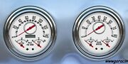 New Vintage Usa Direct Fit Gaugeswoodward White Fits 1947-1953 Chevy/gmc Truck.