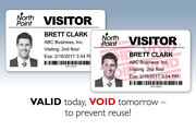 6,000 Full-expiring Visitor Badges Clip-on/24 Rolls For Brother Label Printers