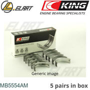 King Main Shell Bearings Mb5554am Std For Toyota 1.8-2.0 1s-2s-3s-4s-5s