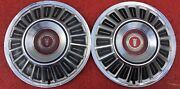 15 Ford Classic Hubcaps Set Of 2 1969-1972 Hub Caps Wheel Cover Vintage 69-72
