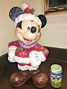Jim Shore Christmas Traditions Mickey Mouse Disney Large Santa Figurine Outdoor