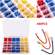 480pcs Mixing Car Electrical Wire Connectors Crimp Terminal Set Kits Insulated