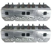 Precision Race Cylinder Heads Small Block Chevy W/.600 Lift Springs Sbc 350 383