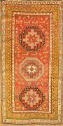 Antique Russian Kazak Design Rug - 3and039 X 5and0396