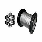 Cable Railing Type 316 Stainless Steel Wire Rope Cable 1/47x19 Coil And Reel