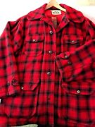 Woolrich Hunting Clothes, Red And Black Buffalo Plaid , Wool, Good Cond., Ca 1980