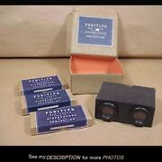 Antique Positifs Stereoviewer And 36 Glass Slides Fontaine Bleau Original Boxes