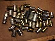 44 Vintage Vacuum Tube Heat Shield Covers J-slot Steel 7-pin Gold Silver Eby