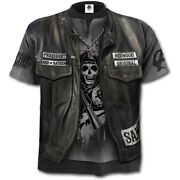 Spiral Direct Sons Of Anarchy Jax Wrap - Allover T-shirt Biker/licensed/flames