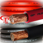 50 Ft True Awg 1/0 Gauge Ofc Power Wire 25 Ft Red 25 Ft Black Ground Car Audio