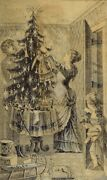 E. Ridley And Sons Christmas Trade Card Santa Has Come Family Tree Toys P55