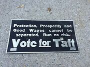 Vote For Taft Republican Party Political Ad 11x21 President Election 1912