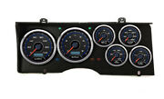 New Vintage Usa 6 Gauge Panel Cfr Blue,fits 1978-88 Chevy Monte Carlo,direct Fit