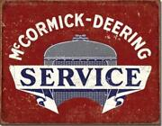 Mccormick Deering Service Metal Tin Sign Ih Picture Tractor Farm Gift Usa