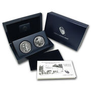 2013-w 2-coin Silver American Eagle West Point Set W/box And Coa - Sku 76075