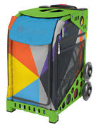 Zuca Bag Colorblock Party Insert And Green Frame W/flashing Wheels - Free Cushion