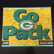 Incredible Green Bays Packers Signed Poster 60+ Signatures Bart Starr Jsa Coa