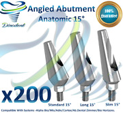 X200 Dental Angled 15 Degrees Abutments Anatomic For Implant Internal Hex Lab