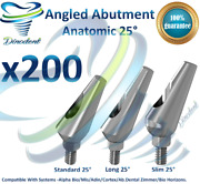 X200 Dental Angled 25 Degrees Abutments Anatomic For Implant Internal Hex Lab