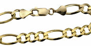 Authentic 14k Solid Yellow Gold 8.5mm Figaro Link Chain Necklace Sz 20-30