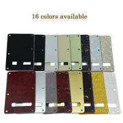 Various Colors 1ply/3 Ply St Style Guitar Tremolo Trem Spring Cover Back Plate