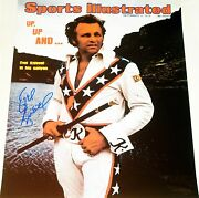 Evel Knievel Hand Signed Autographed 16x20 Sports Illustrated Photo Rare Proof
