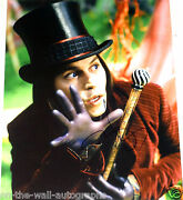 Johnny Depp Hand Signed Autographed Chocolate Factory 11x14 Photo W/proof +coa