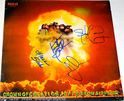 Jefferson Airplane Hand Signed Autographed Crown Of Creation Album By 4 W/proof